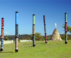 Maclean Tartan Power Poles - Northern Rivers Accommodation